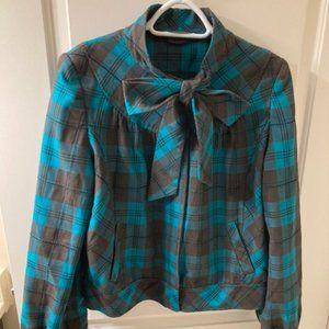 New Look UK plaid jacket size 12